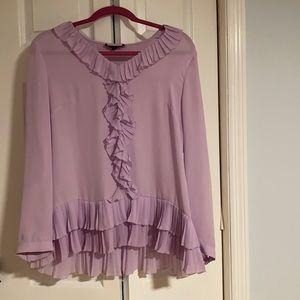Lilac Ruffle Top